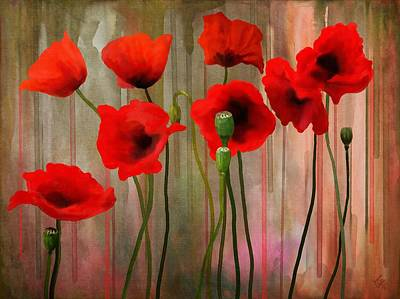 Poster featuring the painting Poppies  by Ivana Westin