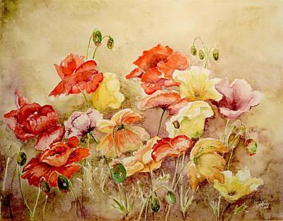 Poppies Poster by Marilyn Zalatan