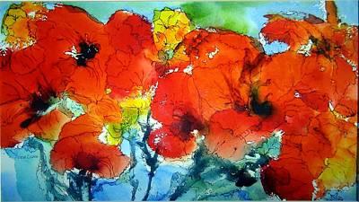 Poppy Bouquet Poster by Anne Duke