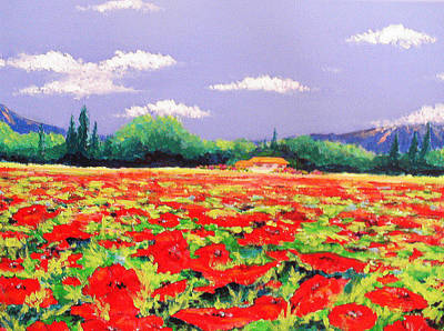 Poppy Field Poster by Anne Marie Brown