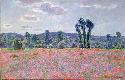 Poppy Field Poster by Claude Monet