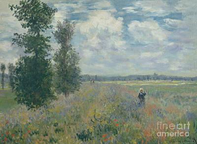 Poppy Fields Near Argenteuil, 1875 Poster