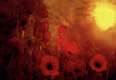 Poster featuring the painting Poppy Heaven by Valerie Anne Kelly