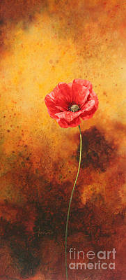 Poppy Painting Poster by John Francis