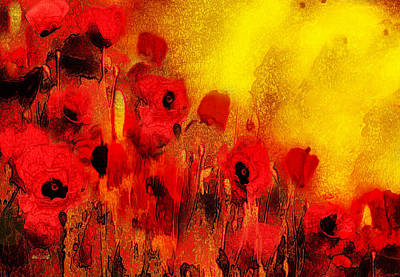 Poster featuring the painting Poppy Reverie by Valerie Anne Kelly