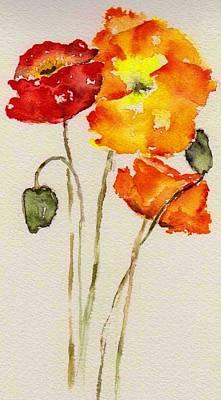 Poppy Trio Poster by Anne Duke