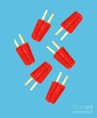 Popsicle T-shirt Poster by Edward Fielding