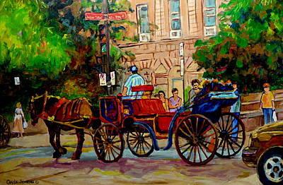 Popular Quebec Artists Carole Spandau Painter Of Scenes De Rue Montreal Street Scenes Poster