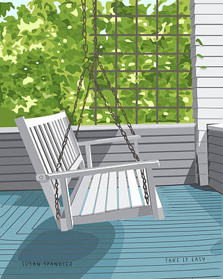 Porch Swing Poster