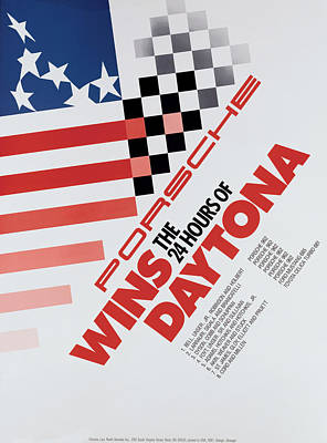 Porsche 24 Hours Of Daytona Wins Poster by Georgia Fowler