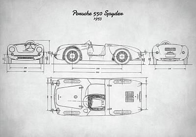 Porsche 550 Spyder Poster by Taylan Apukovska