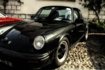 Porsche 911 Sc Targa In Black Poster by Georgia Fowler
