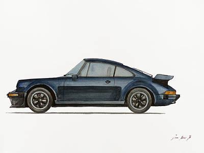Porsche 911 Turbo 930 Poster by Juan  Bosco