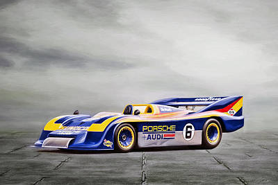 Porsche 917 Can-am Poster by Peter Chilelli