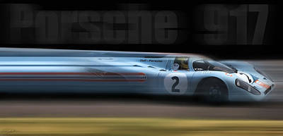 Porsche 917 Poster by Peter Chilelli