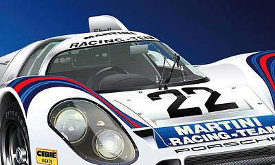Porsche 917k Poster by Alain Jamar