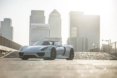 Porsche 918 Spyder Canary Wharf Poster