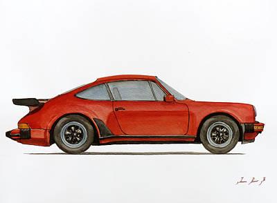 Porsche 930 Turbo 911 Poster by Juan  Bosco