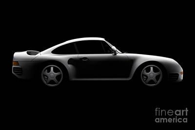 Porsche 959 - Side View Poster