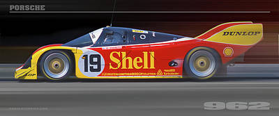 Poster featuring the photograph Porsche 962 Andretti by Ed Dooley
