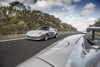 Porsche 993 Gt2 With Carrera Gt And 1973 2.7 Rs Poster
