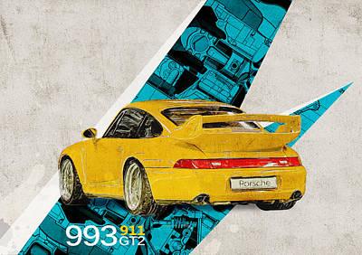 Porsche 993 Gt2 Poster
