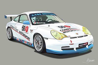 Porsche 996 Gt3 Cup Poster