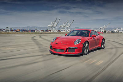 Poster featuring the photograph Porsche 991 Gt3 by ItzKirb Photography