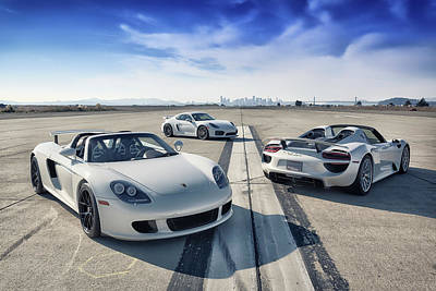 Poster featuring the photograph #porsche #carreragt,  #918spyder,  #cayman #gt4 by ItzKirb Photography