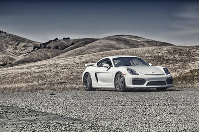 Poster featuring the photograph Porsche Cayman Gt4 In The Wild by ItzKirb Photography
