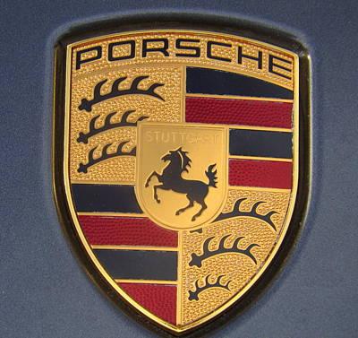 Porsche Emblem Poster by Lingfai Leung