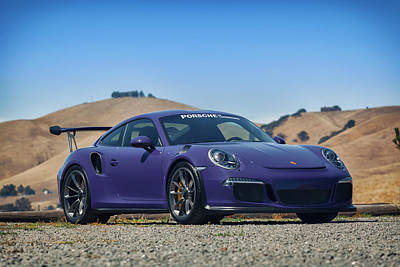 Poster featuring the photograph #porsche #gt3rs #ultraviolet by ItzKirb Photography