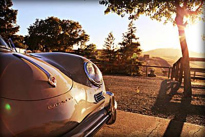 Porsche Sundown Poster
