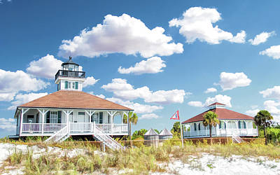 Poster featuring the painting Port Boca Grande Lighthouse by Christopher Arndt