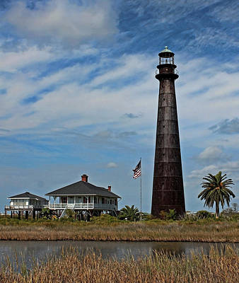 Port Bolivar Lighthouse Poster