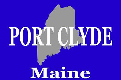 Poster featuring the photograph Port Clyde Maine State City And Town Pride  by Keith Webber Jr