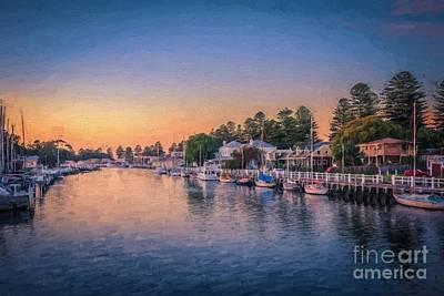 Port Fairy Sunset  Ed Poster
