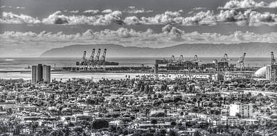 Port Of Long Beach  Poster