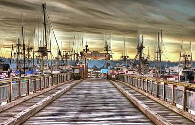 Port Of Newport - Dock 5 Poster by Thom Zehrfeld