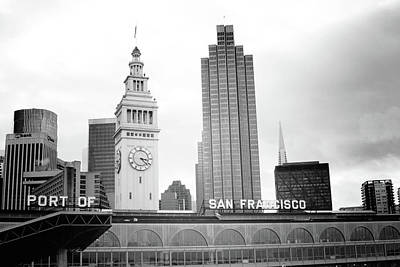 Port Of San Francisco Black And White- Art By Linda Woods Poster by Linda Woods