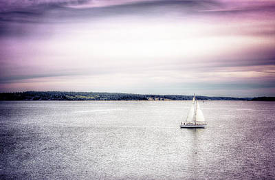 Poster featuring the photograph Port Townsend Sailboat by Spencer McDonald