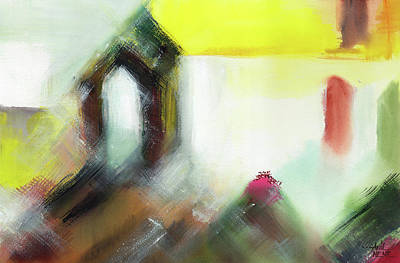 Poster featuring the painting Portal by Anil Nene