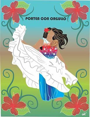 Porteo Puerto Rico Poster by Parenthood Art Designs