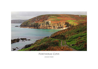 Poster featuring the digital art Portheras Cove by Julian Perry