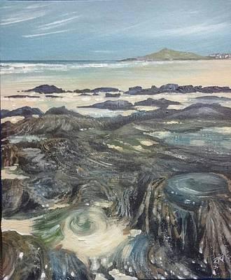Porthmeor Beach  Poster by Keran Sunaski Gilmore