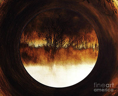 Porthole To Swamped Planet Poster by Kim Pate