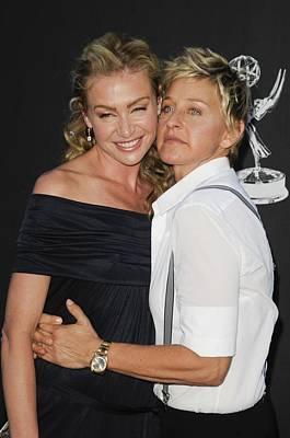 Portia De Rossi, Ellen Degeneres Poster by Everett