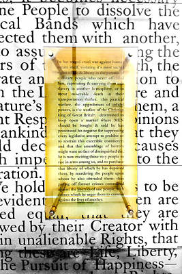Portion Of The Declaration Poster by Greg Fortier
