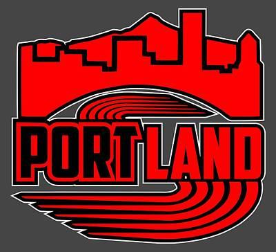 Portland Basketball Poster by Daniel Dummer
