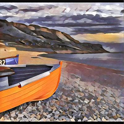 Portland Chesil Beach Poster
